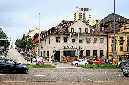Höfe am Kaffeeberg: Am  ersten Kaffeehaus Ludwigsburgs  haben die Umbauarbeiten begonnen. Foto: factum/Granville