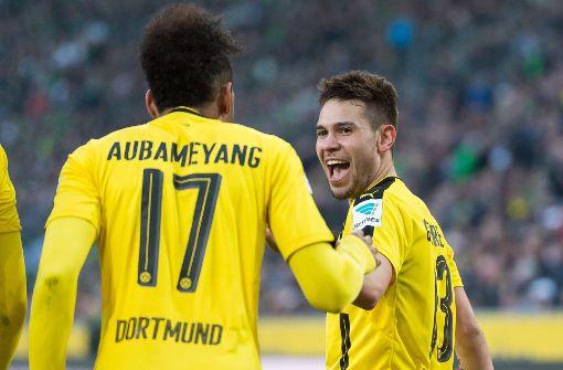 Raphaël Guerreiro (rechts) wurde wegen Fahrerflucht vom Amtsgericht Dortmund verurteilt. Foto: dpa