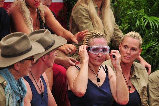 Nach etwa der Hälfte der Dschungelprüfung hat Helena Fürst genug - und gibt den Stab an David Ortega weiter.  Foto: RTL/Stefan Menne