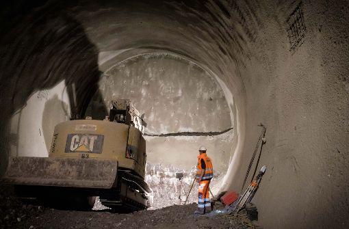 Unter dem Wagenburgtunnel wird der Berg für die Ankunft der S-21-Tunnelbohrmaschine vorbereitet. Foto: Lichtgut/Achim Zweygarth