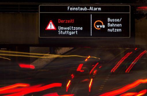 Grün-Schwarz beschließt Fahrverbote ab 2018