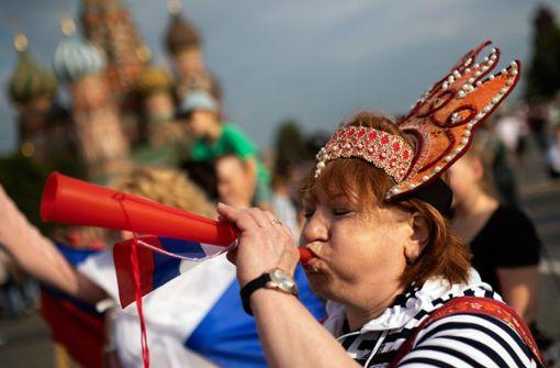 Gefühlt ganz Russland ist im WM-Fieber. Foto: AP