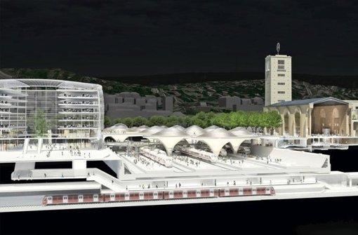 Form und Nutzung des Gebäudes gegenüber dem alten Hauptbahnhof sind offen Foto: ingenhoven architects