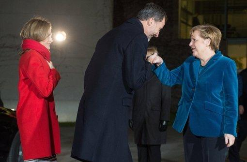 Merkel empfängt Felipe und Letizia