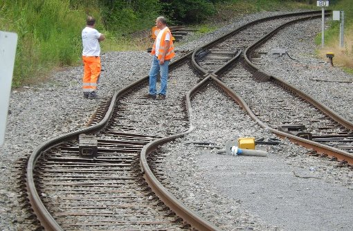 Schwieberdingen: Zug entgleist