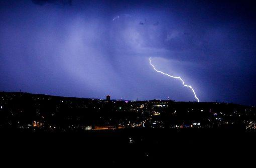Heftiges Gewitter zieht über Stuttgart und die Region