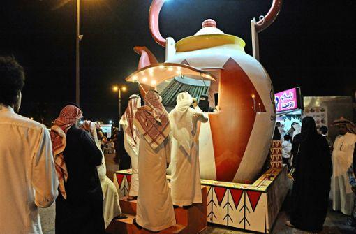 Kaffee oder Tee? Immer mehr Frauen gründen ein Unternehmen  wie diese mobile Kaffeebar in der Stadt Dammam. Foto: Eglau