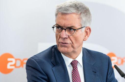 ZDF-Intendant Thomas Bellut ist für eine Erhöhung des Rundfunkbeitrages. Foto: dpa