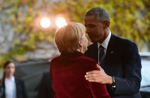 Angela Merkel und die US-Präsidenten