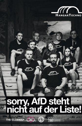 """Junge Leute, eine Meinung: """"Die AfD steht nicht auf der Liste"""" Foto: www.zugderliebe.org"""