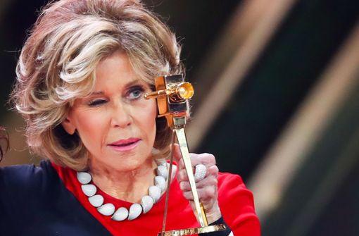 Die talentierte Jane Fonda hat etliche Preise gewonnen, im März 2017 auch eine Goldene Kamera. Foto: dpa