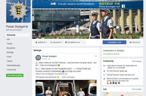Stuttgarter Polizei startet auf Instagram