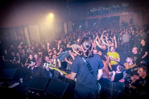 Die Kassierer haben ein Konzert im Jugendhaus Hallschlag gegeben. Foto: www.7aktuell.de | Andreas Friedrichs