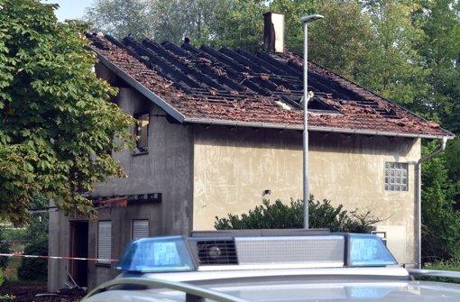 Feuer in geplantem Flüchtlingsheim