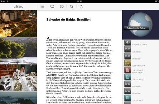 Mit Libroid wird auf dem iPad gelesen Foto: Hersteller