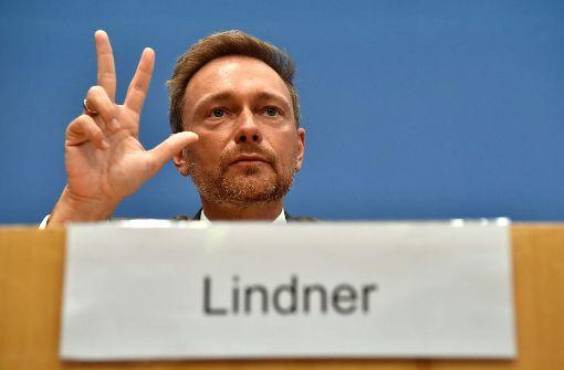 FDP-Chef Lindner steht Fraktion vor