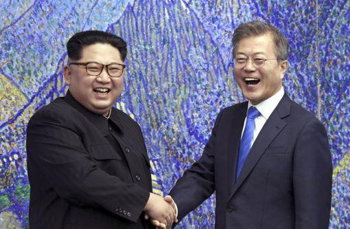 Kim Jong Un betritt erstmals südkoreanischen Boden