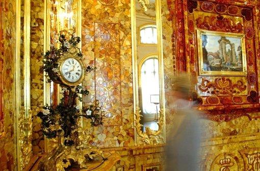 Das Bernsteinzimmer (hier eine Nachbildung) ist bis heute nicht gefunden. Foto: dpa