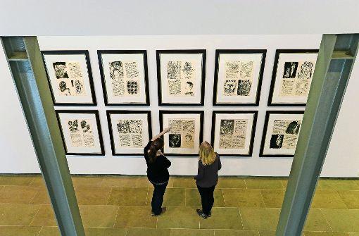 """Ein düsteres Malerbuch Picassos: """"Poèmes et Litograhpies"""" Foto: factum/Granville"""