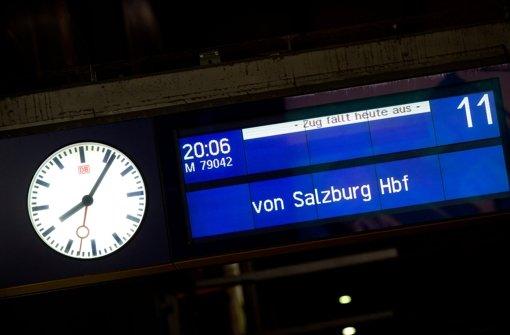Salzburg-München: Zugverkehr bleibt unterbrochen