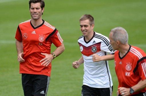 Kapitän Philipp Lahm wieder am Ball