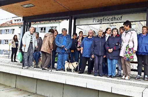 Die Anwohner warten nicht auf die U12, sondern protestieren gegen Foto: Eva Funke