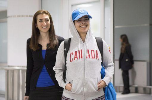Kanada hatte der 18-Jährigen zuvor Asyl angeboten - was das angespannte Verhältnis zwischen Kanada und Saudi-Arabien zusätzlich belasten dürfte. Foto: AP