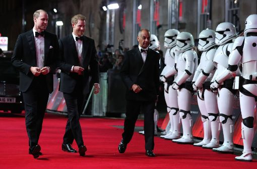 "Prinzen William und Harry bei der ""Star Wars""-Premiere"