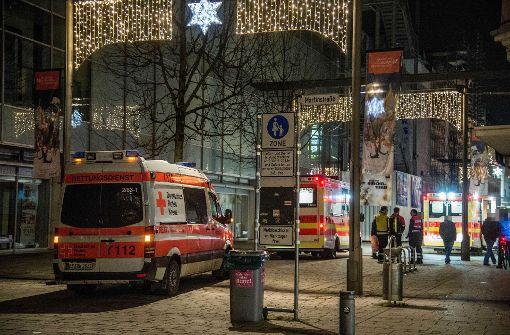 Großeinsatz am Rande des Esslinger Weihnachtsmarktes