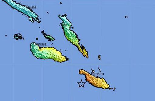 Ein gewaltiges Erdbeben hat sich am frühen Freitagmorgen (Ortszeit) vor der Inselgruppe der Salomonen im Südpazifik ereignet. Foto: dpa
