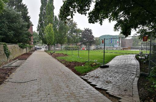 Großbaustelle im Park der Schwabenlandhalle