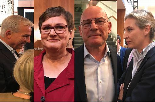 Das sagen Thomas Strobl, Leni Breymaier und Alice Weidel zur Wahl