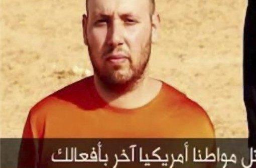 Mord  als IS-Propaganda: Der US-Journalist Steven Sotloff in einem Video der Terrormiliz kurz vor seiner Enthauptung Foto: ISLAMIC STATE