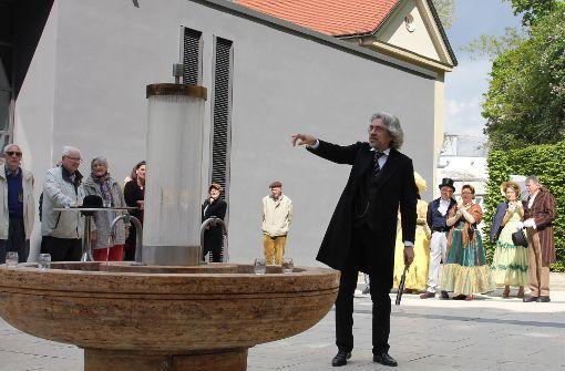 Historiker Olaf Schulze schlüpfte in die Rolle von Graf Wilhelm von Taubenheim. Foto: Torsten Ströbele