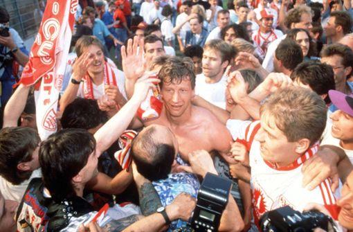 Guido Buchwald, Meisterschaft 1992: Dem VfB Stuttgart treu geblieben Foto: Baumann