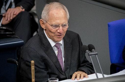 Schäuble fordert Kompromissbereitschaft von Parteien