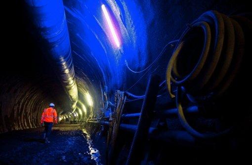 Auf dieser Tunnelbaustelle im Stuttgarter Norden herrscht am Mittwoch zwangsweise Flaute – kommende Woche soll es     weitergehen Foto: Max Kovalenko