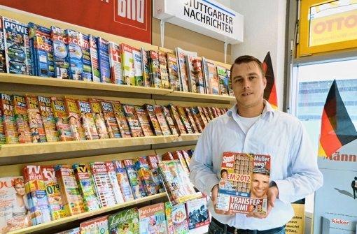 Ist ein Fan der Zeitschrift Sportbild: Thorsten Hoch. Foto: Isabelle Müller