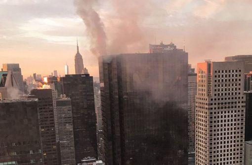 Feuer in Trump Tower ausgebrochen