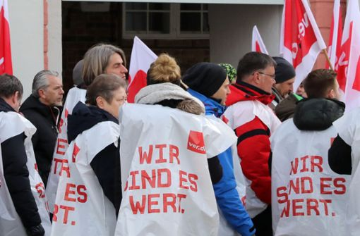 Warnstreik an Uniklinikum in Mannheim