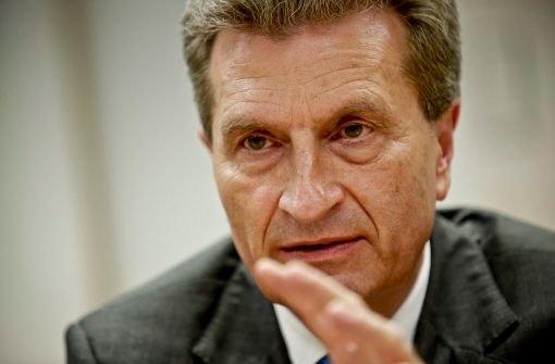 EU-Kommissar Günther Oettinger. Foto: Leif Piechowski