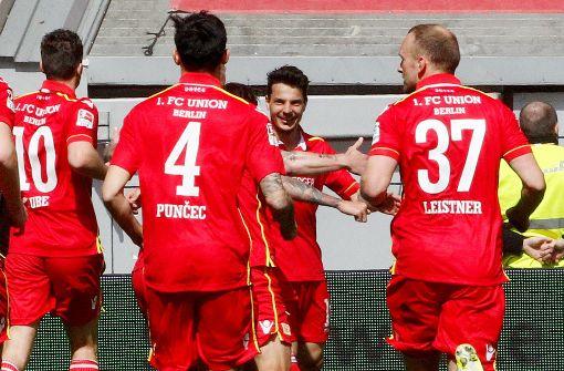 Der 1. FC Union Berlin steht mit 54 Punkten auf Platz 4. Foto: dpa