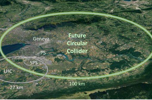 Forscher planen größten Teilchenbeschleuniger der Welt