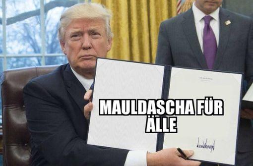 Donald Trump und ein Maultaschen-Gesetz