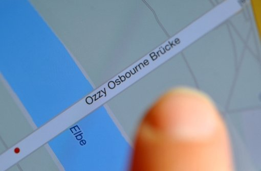 Die Ozzy Osbourne Brücke zu Dresden