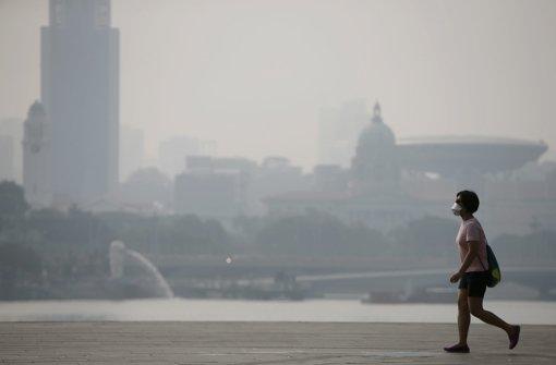 Die Luftverschmutzungswert, der ab 100 als gesundheitsbedrohlich und ab 200 als gesundheitsbedrohlich gilt, war zwischenzeitlich über 1000 gestiegen. Foto: dpa