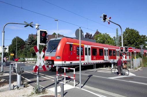 Bahn wartet Wendlinger Weiche