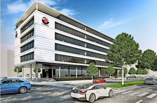 Viel Glas und sehr modern: So soll der neue Firmensitz aussehen. Foto: Wörwag Pharma