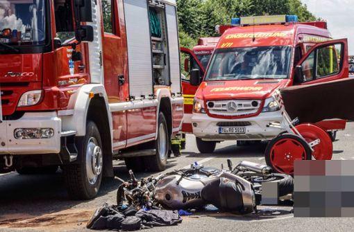 Motorradfahrer stirbt auf A81