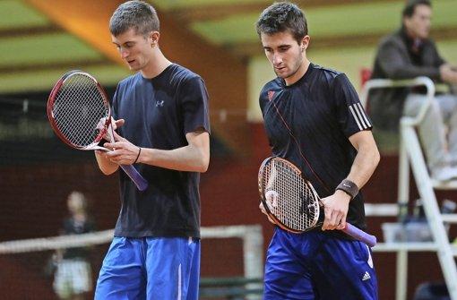 Gehen immer hoch konzetriert ins Match: Yannick (links) und Dominique Maden. Foto: Baumann